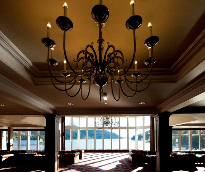 Dine in style at the Ardgartan Hotel in Scotland.