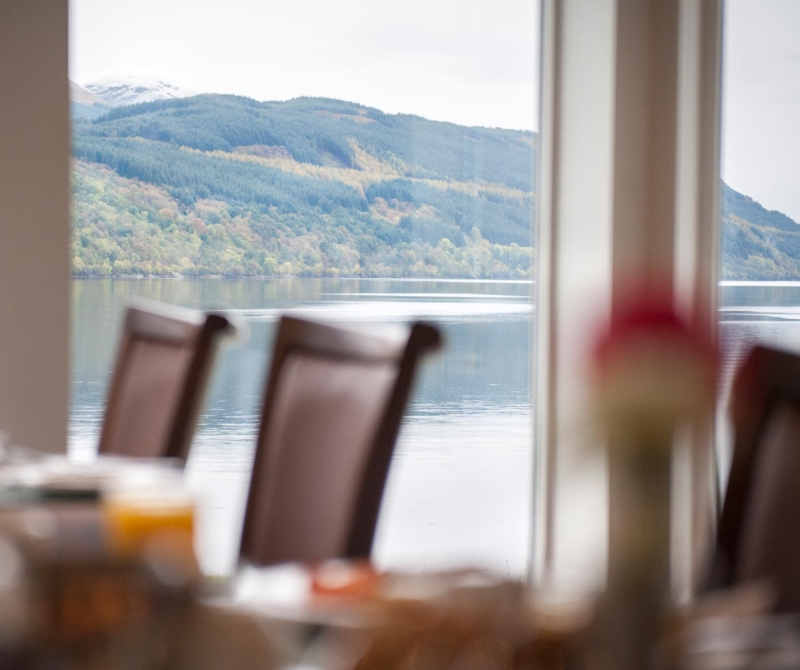 Fine dining overlooking a loch when you stay at the Ardgartan Hotel