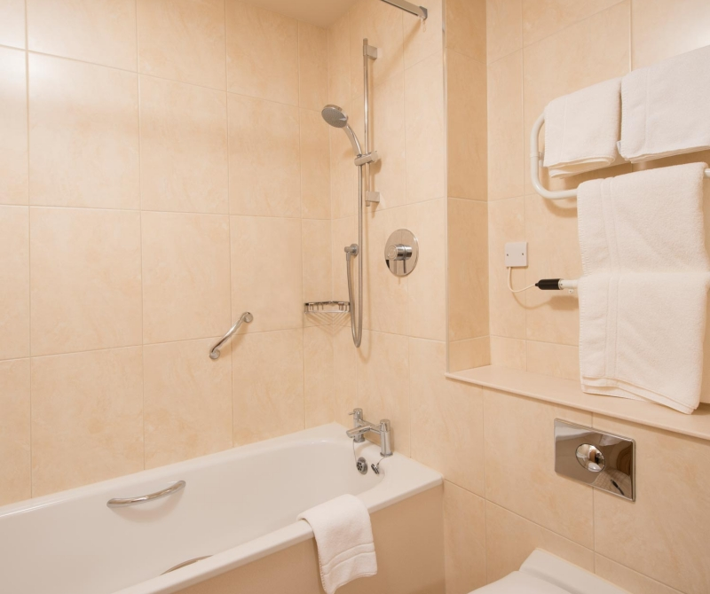 Enjoy gorgeous bathrooms when staying in a Lochs & Glens coach tours hotel