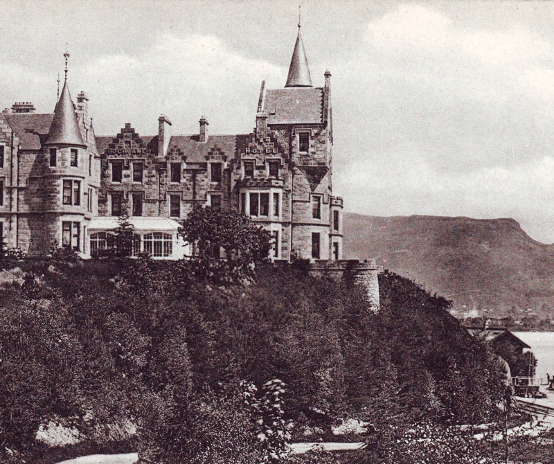 The Loch Awe Hotel surrounded in history.