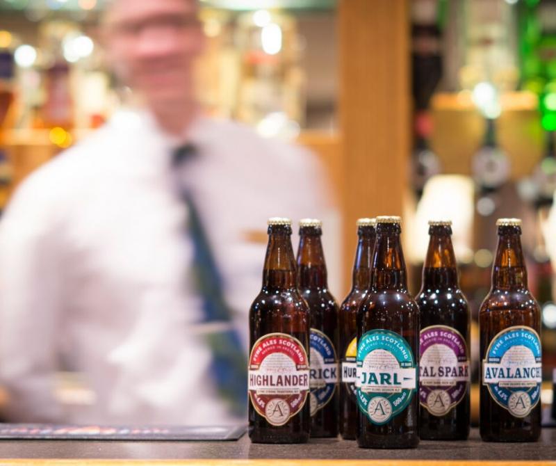 Drink local ales from Loch Fyne Brewery when you enjoy a Lochs & Glens coach holiday