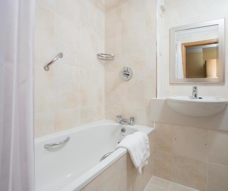 Spotless bathrooms at Lochs & Glens hotels.