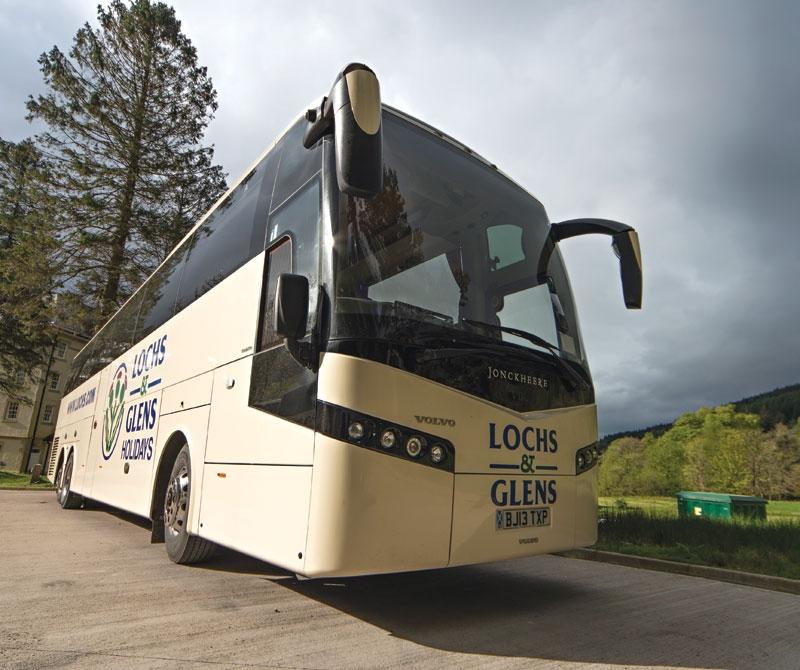 Lochs & Glens Coach ready to tour around Scotland