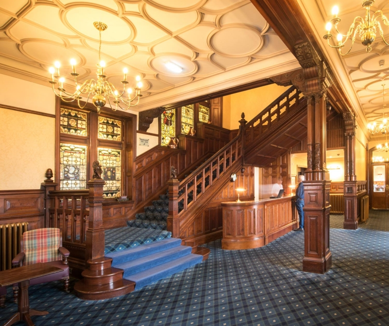 Relax at the Highland Hotel, masked in history, on your Scottish Coach Holiday with Lochs & Glens.
