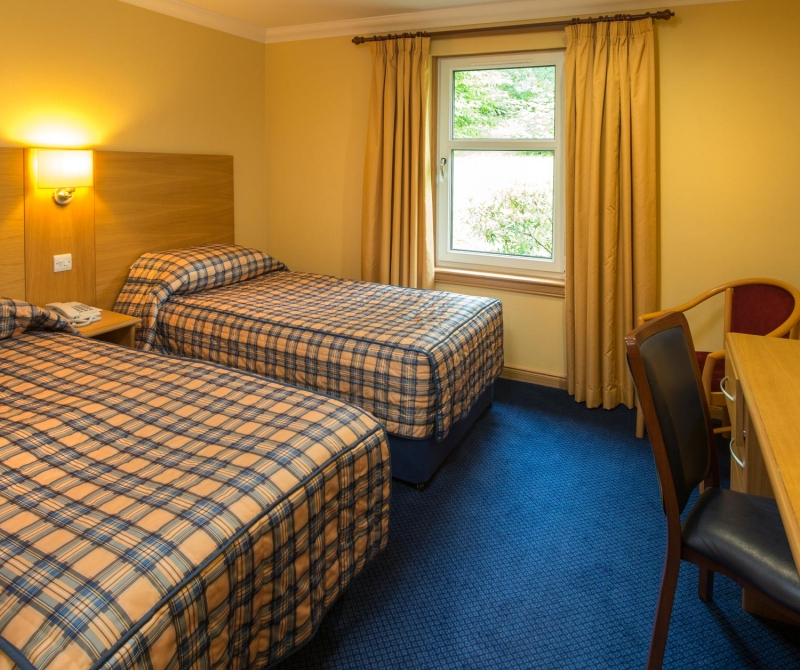 Spacious double rooms when staying in a Lochs & Glens coach tours hotel