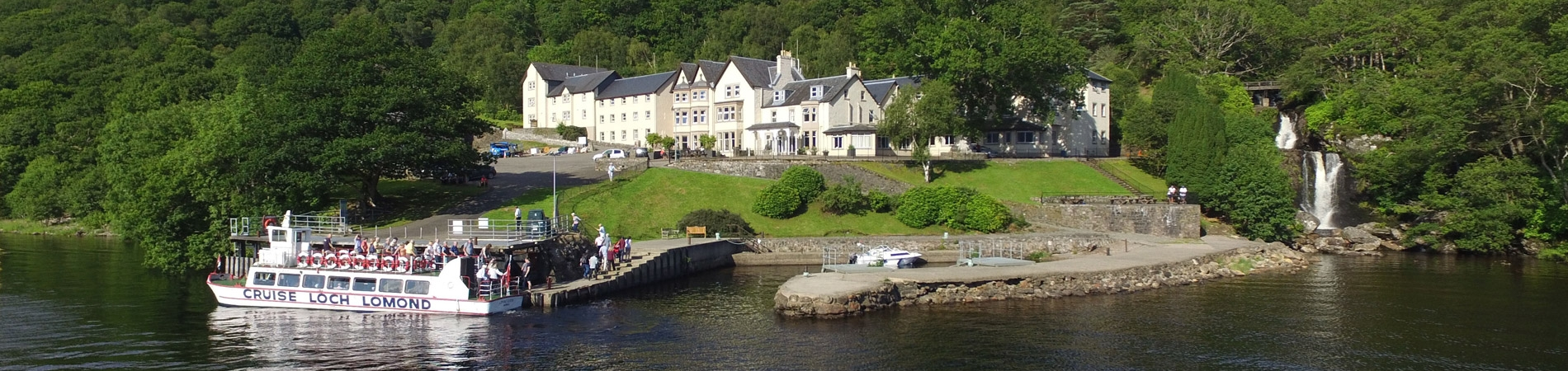 The Inversnaid Hotel overlooking Loch Lomond
