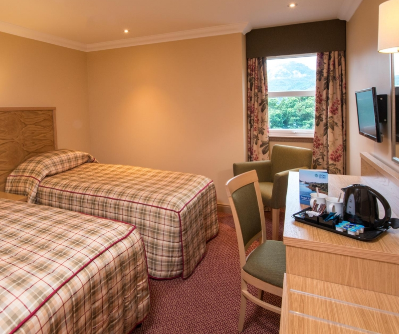 Spacious double rooms with Lochs & Glens Scottish Coach tours