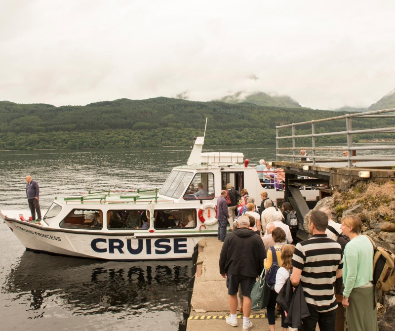 Cruise around Inversnaid and Loch Lomond on a Lochs & Glens coach holiday