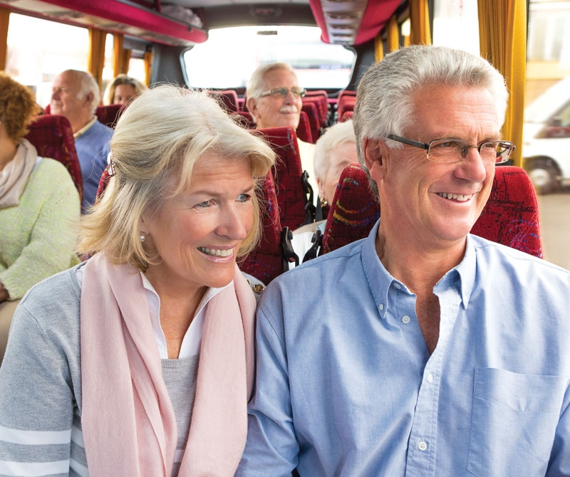 Guests enjoying the view on a Coach Holiday to Scotland