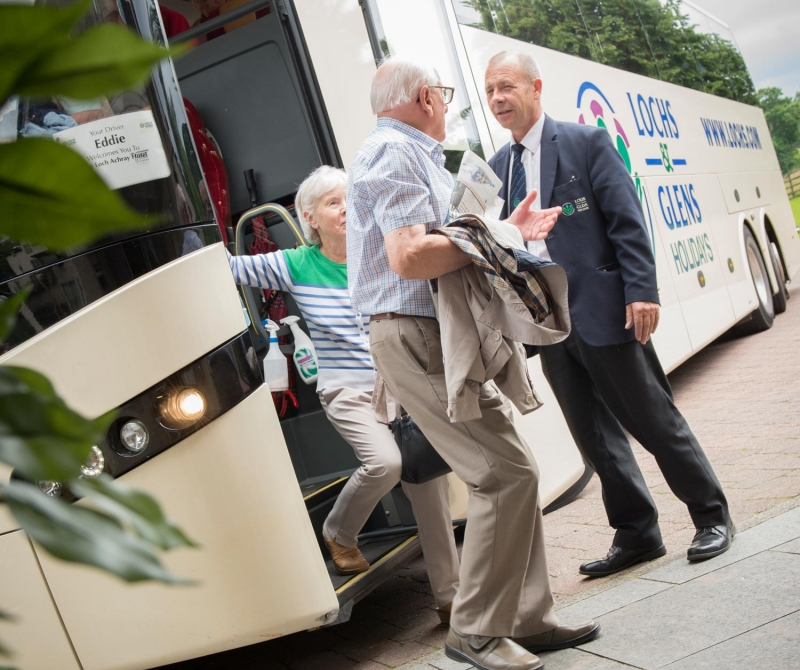 Arrive at the Loch Tummel Hotel in style when you tour with Lochs & Glens