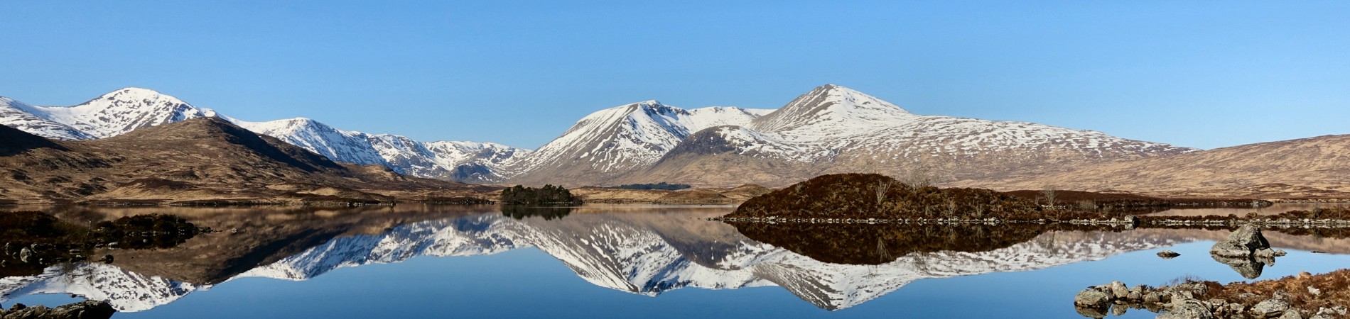 Gorgeous views across Rannoch Moor when travelling with Lochs and Glens Luxury Coach Holidays